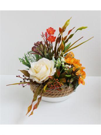Составить композицию из искусственных цветов своими руками 2