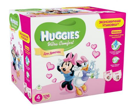 Huggies Ultra Comfort Disney для девочек 4