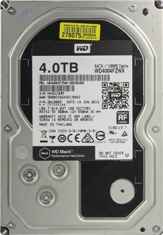 "Western Digital Black HDD 3.5"" 4Tb (WD4004FZWX) - жесткий диск"