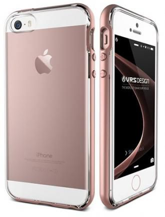 Verus Crystal Bumper (904502) - чехол для iPhone SE/5S (Pink Gold)