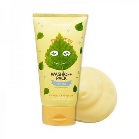 Etude House Play Therapy Маска выравнивающая тон кожи Play Therapy Wash Off Pack [Brightening]
