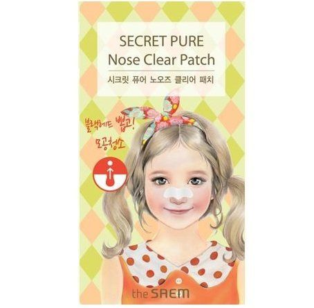 Saem Secret Pure Набор пластырей против акне Secret Pure Nose Clear Patch Set(8pcs)