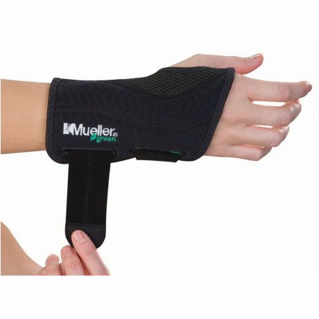 Mueller MUELLER GREEN FITTED WRIST BRACE RIGHT S-M