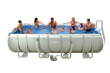 "Каркасный бассейн ""Intex Ultra Frame Rectangular Pool"" 732х366 28362"
