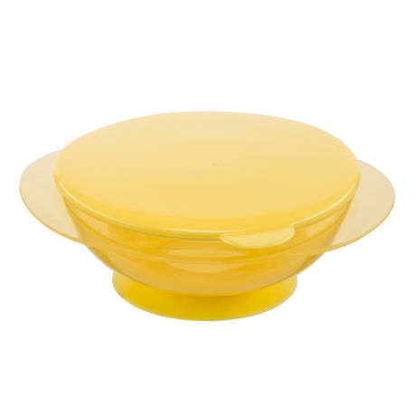 Детская тарелка Happy Baby Feeding Bowl на присоске, 15002 Yellow