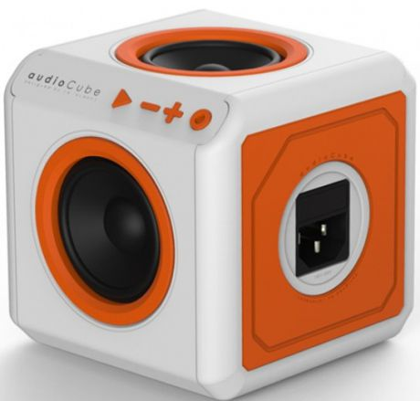 Allocacoc AudioCube (3902/EUACPT) - Bluetooth-колонка (White/Orange)