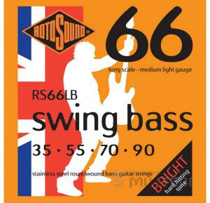 Rotosound Rs66lb Bass Strings Stainless Steel
