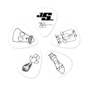 Planet Waves 1cwh4-10js Joe Satriani Picks White Medium