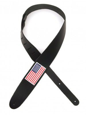Planet Waves 2.5` Leather With American Flag Patch