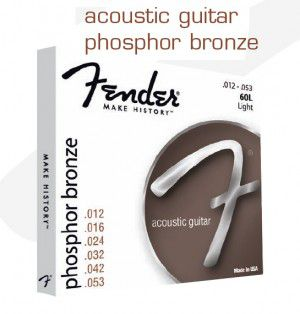 Fender Strings New Acoustic 60l Phos Bronze Ball 12-53
