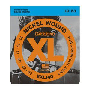 D`addario Exl140 Nickel Wound Light Top/heavy Bottom 10-52
