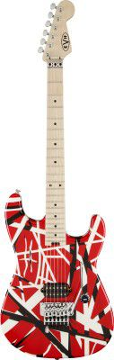 Evh Stripe Series Red With Black  White Stripes
