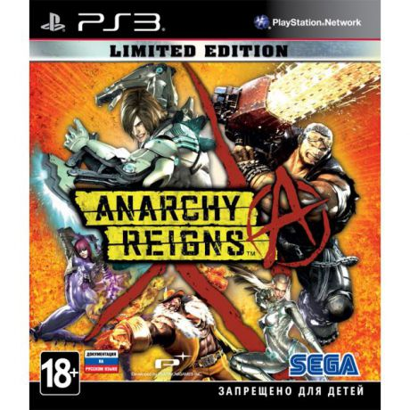 Anarchy Reigns. Limited Edition Специальное издание, Sony PlayStation 3, боевик