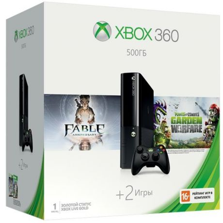 Microsoft Xbox 360 500 ГБ + Plants vs Zombies + Fable Anniversary