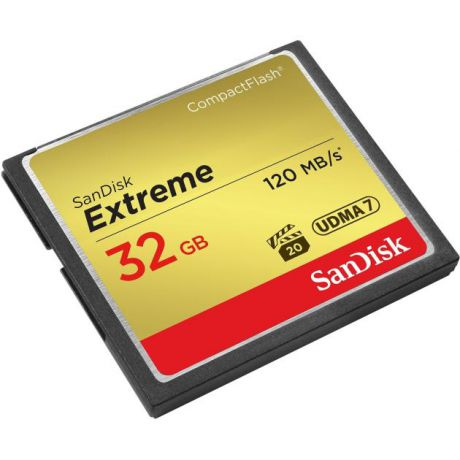 Sandisk Карта Памяти CF 32Gb Sandisk Extreme 120/85 Mb/s CompactFlash, 128Гб, Class 10