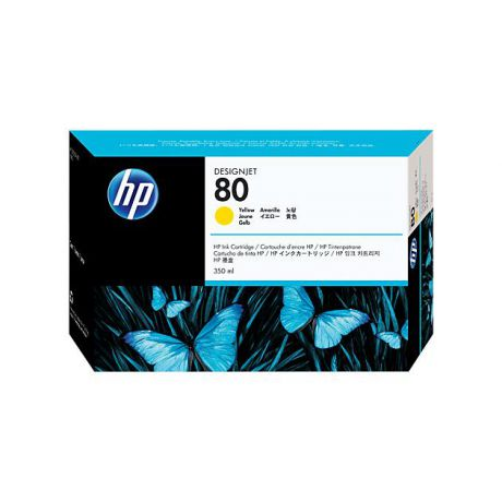 HP HP Inc. Cartridge HP 80 DsgJ 1000/1050C/1055CM, желный (350ml)