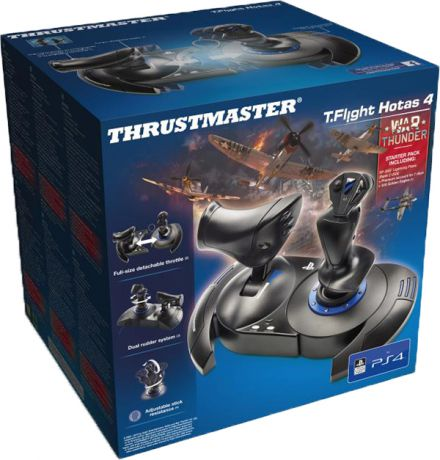 Джойстик Thrustmaster T-Flight Hotas 4 War Thunder & WT Starter Pack для PS4 / PC