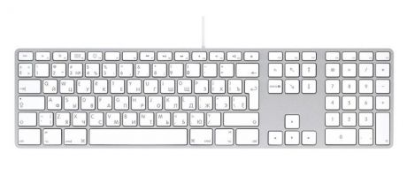 Apple Keyboard-RUS сереб./бел.