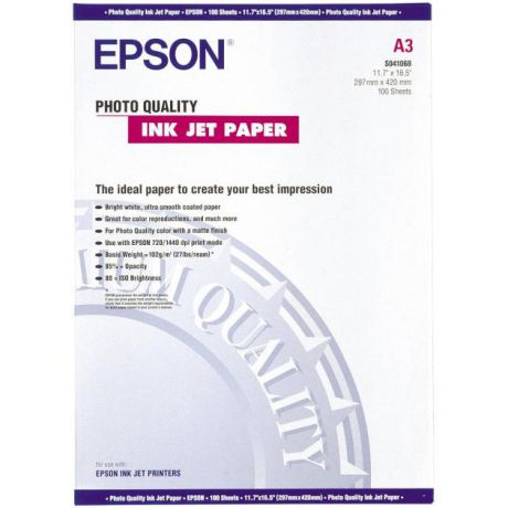Epson Epson Photo Quality Ink Jet Paper A3