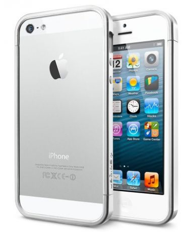 SGP Linear EX Slim Metal (SGP10082) - чехол для iPhone 5/5S (Satin Silver)
