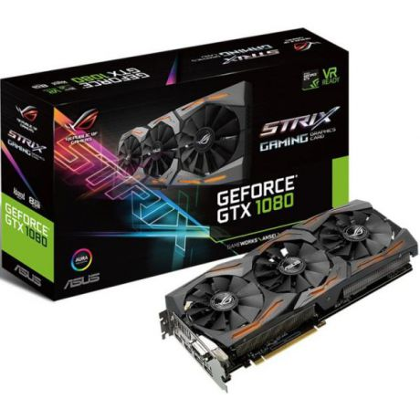 Asus Asus GeForce GTX 1080 STRIX Gaming 256бит, 1695МГц, Поддержка HDCP, PCI-E 16x 3.0, 10010, 8192Мб