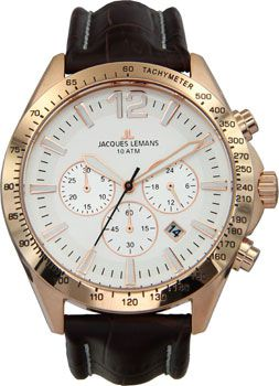 Jacques Lemans Часы Jacques Lemans 1-1751D. Коллекция Power chrono