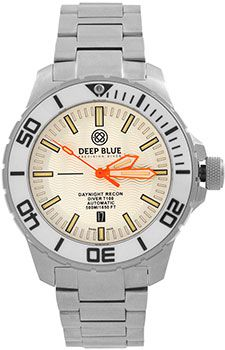 Deep Blue Часы Deep Blue DNR65WHTORG. Коллекция DayNight Recon T-100
