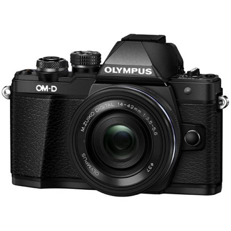Olympus OM-D E-M10 Mark II Pancake Zoom Kit 14-42EZ Black