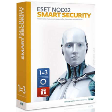 ESET NOD32 Smart Security+Bonus+расш.функц.на3ПКна1год