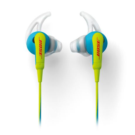 Bose SoundSport In-Ear Neon Blue to Apple