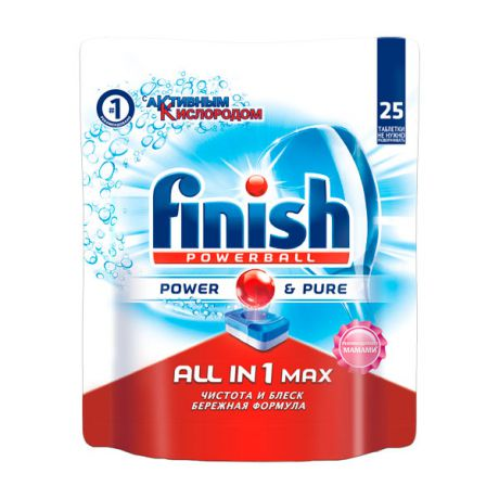 Finish All in 1 Max Power Pure 25табл.