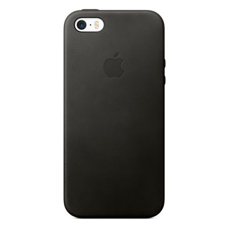 Apple Leather Case Black для iPhone SE (MMHH2ZM/A)