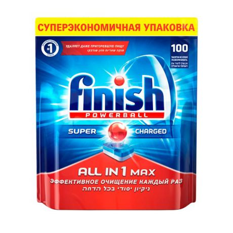 Finish All in 1 Max Super Charged 100табл.