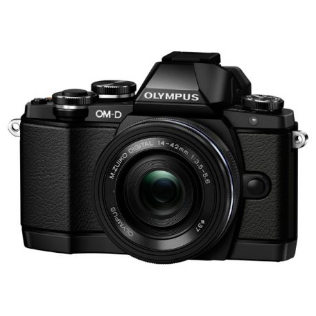 Olympus E-M10 Pancake Zoom Kit Black