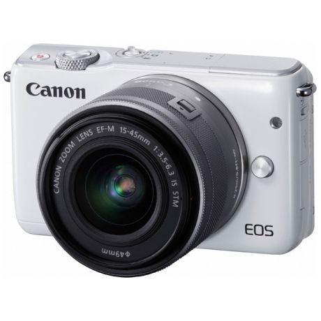 Canon EOS M10 White + EF-M 15-45 IS STM Silver