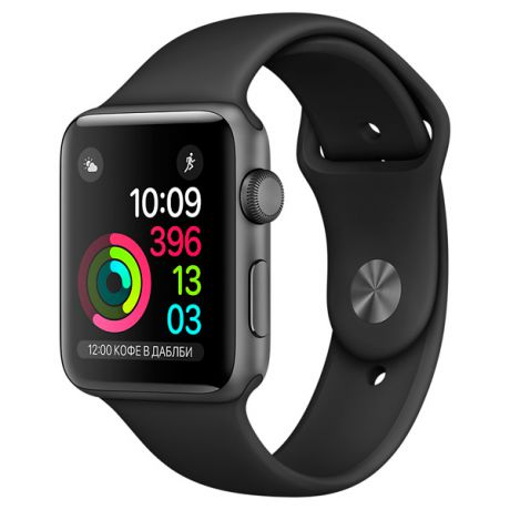 Apple Watch S1 Sport 38mm Sp.Grey Al/Black (MP022RU/A)