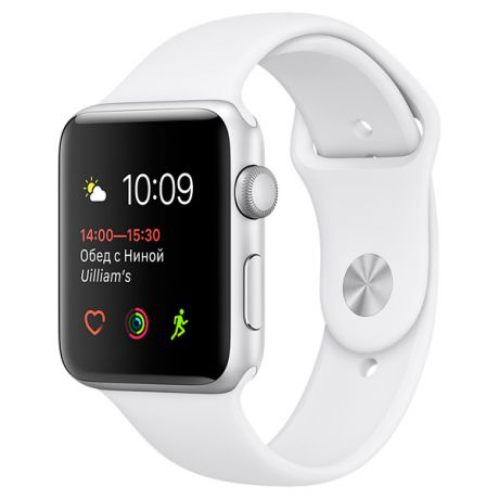 Apple Watch S1 Sport 42mm Silver Al/White (MNNL2RU/A)
