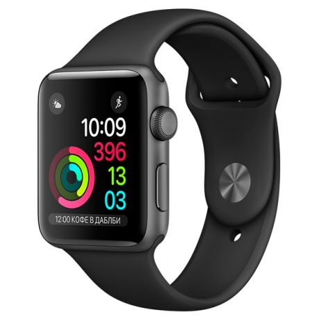 Apple Watch S1 Sport 42mm Sp.Grey Al/Black (MP032RU/A)