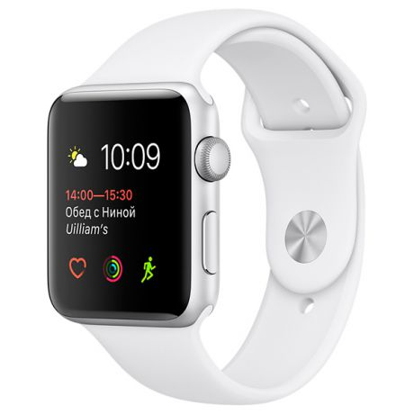 Apple Watch S1 Sport 38mm Silver Al/White (MNNG2RU/A)