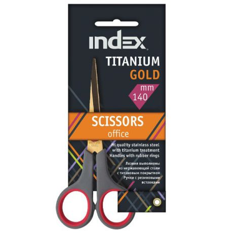 Ножницы Index Titanium Gold 14 см isc601