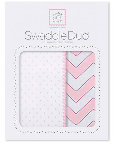 SwaddleDesigns Classic Chevron 2 шт. розовые