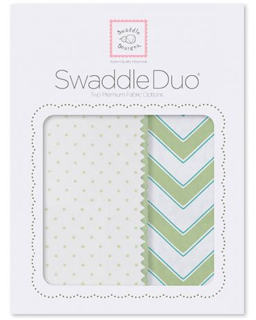 SwaddleDesigns Classic Chevron 2 шт. киви