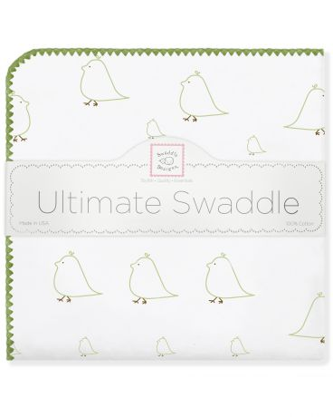 SwaddleDesigns Mama and Baby Chickies киви