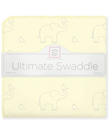 SwaddleDesigns Sunwashed Pastels Sterling Deco Elephants желтая