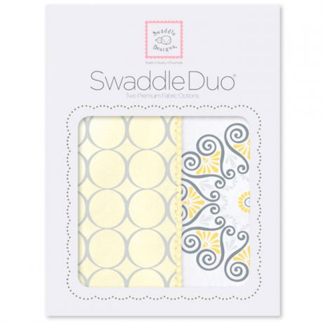 SwaddleDesigns Swaddle Duo Yellow Mod Medallion