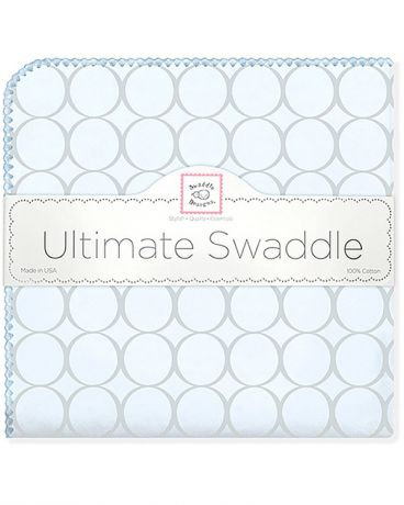 SwaddleDesigns Sunwashed Pastels Sterling Mod Circles голубая