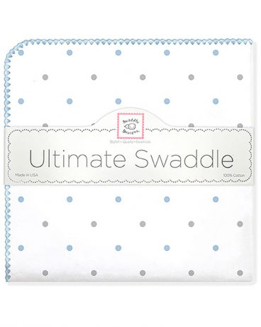 SwaddleDesigns Sterling Little Dots пастельно-голубая