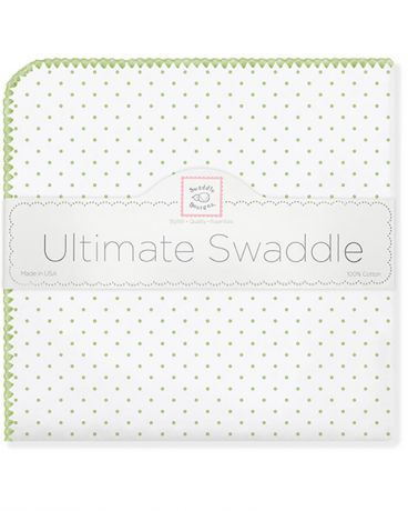 SwaddleDesigns Classic Polka Dots киви