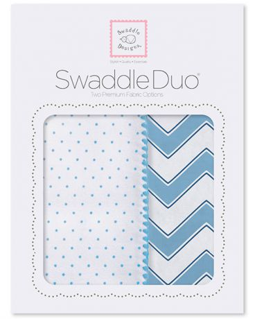SwaddleDesigns Classic Chevron 2 шт. голубые