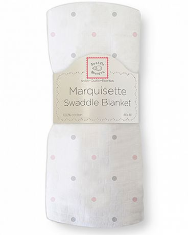 SwaddleDesigns Marquisette Pastel and Sterling Little Dots пастельно-розовая